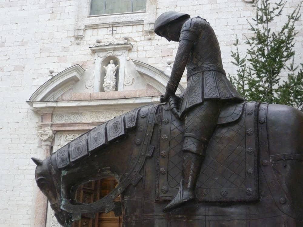 Spello, S.Maria maggiore entrance