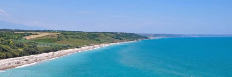 Sea and beach in abruzzo
